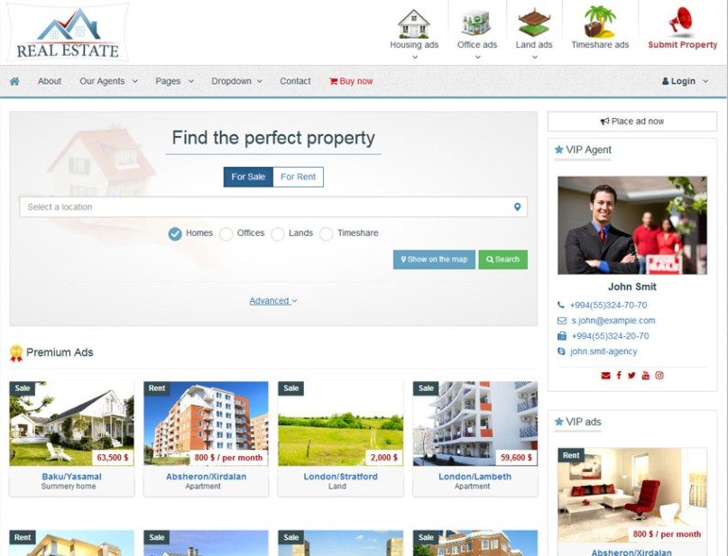 Xazak – Bootstrap Realestate Template available on Template Sell
