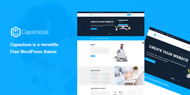 Capacious Free WordPress Theme Released on Template Sell