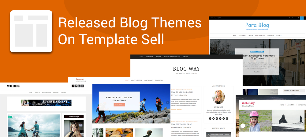 Popular Free WordPress Blog Themes on Template Sell in 2020
