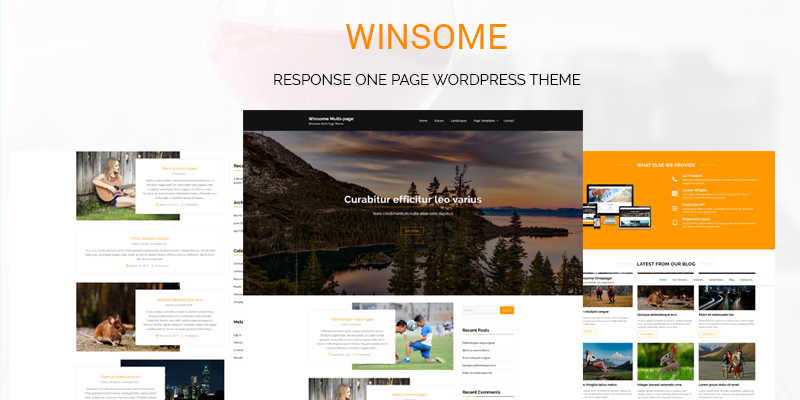 Winsome – Free and Premium WordPress theme available on Template Sell