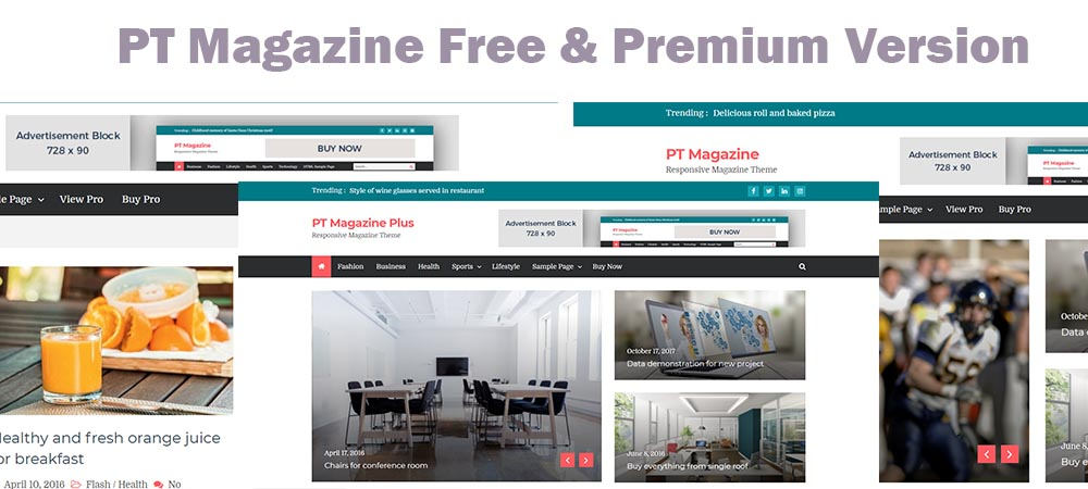 PT Magazine – Free and Premium WordPress Theme Available in Template Sell