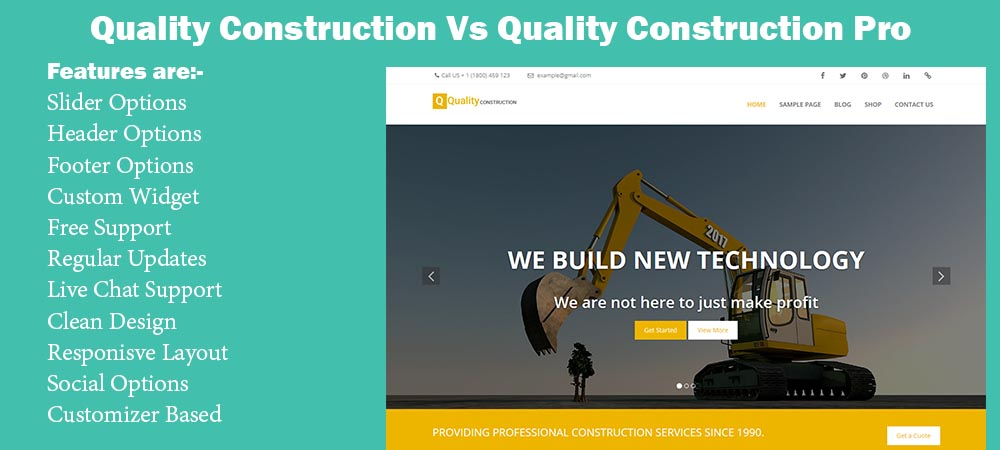 Best WordPress Theme For Constructions Website – Quality Construction