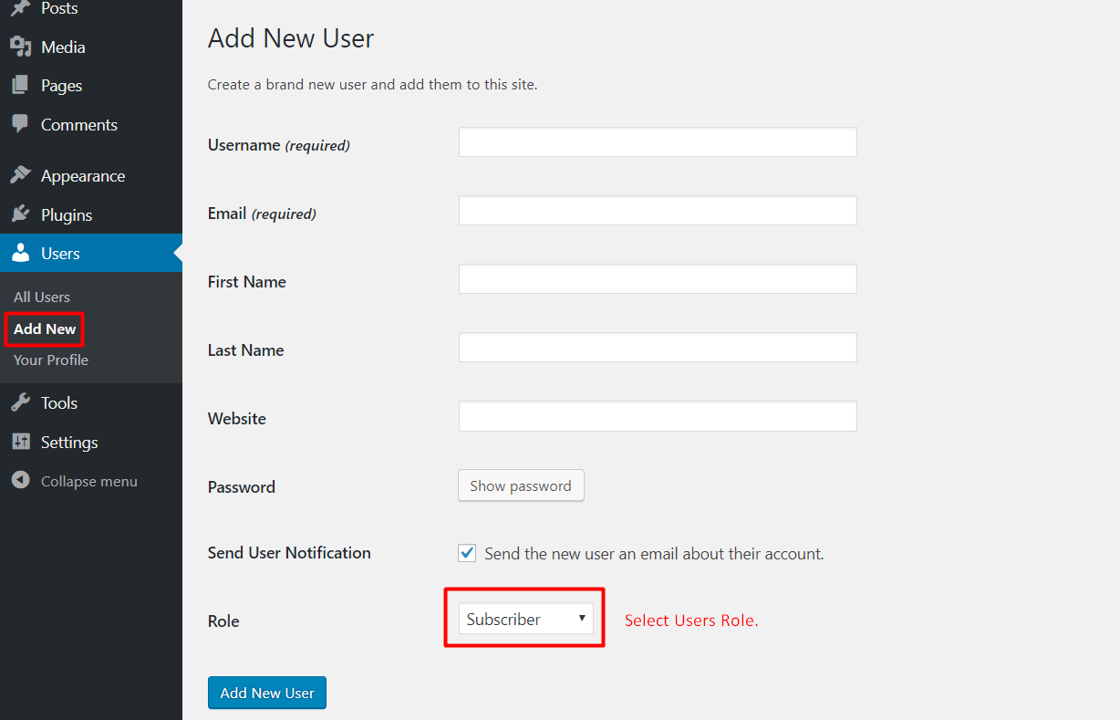How to add new users and edit existing users on your