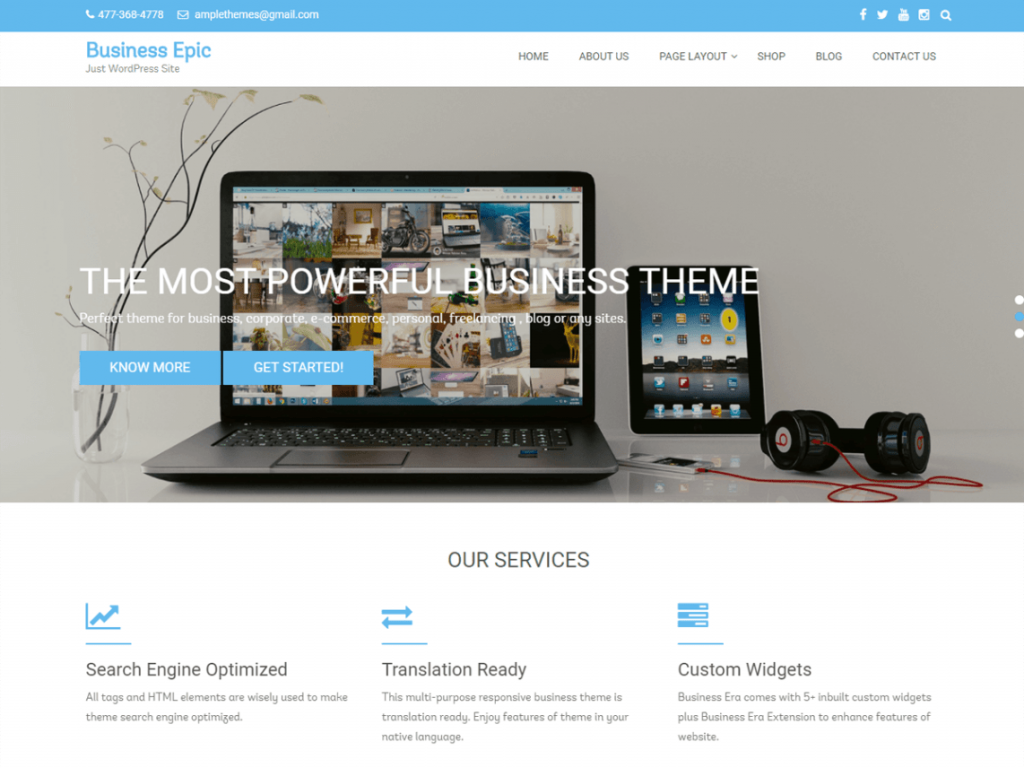 Free and Best Responsive WordPress Themes and Templates - 2018