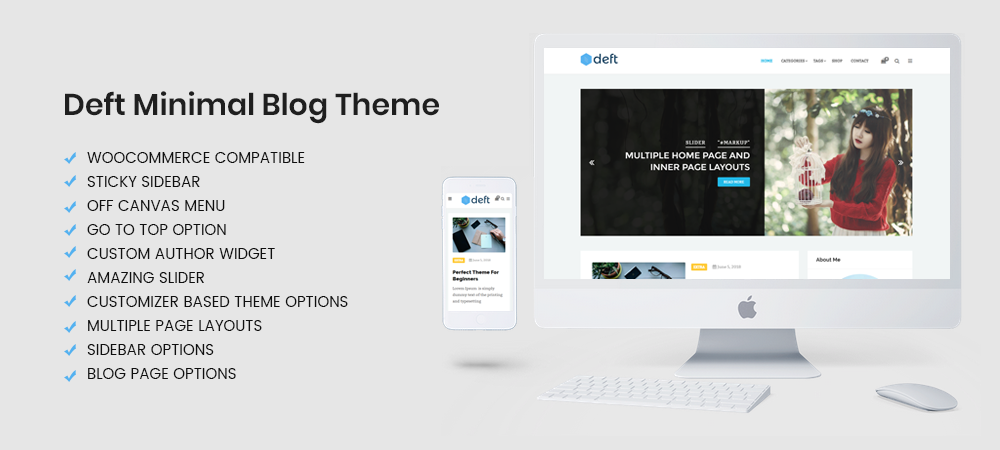 Introducing Clean and Minimal Free WordPress Theme Deft