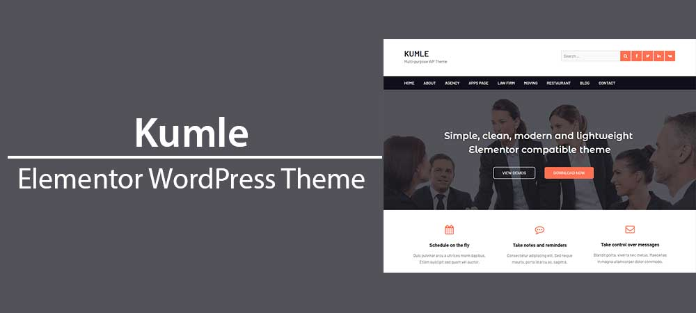 Elementor WordPress Theme Kumle