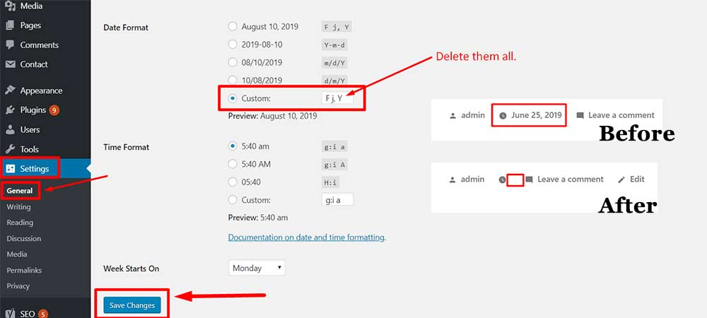 Remove the Date from Your WordPress Posts