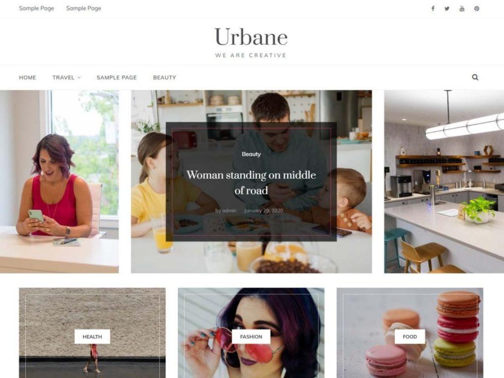 Urbane Free WordPress blog theme