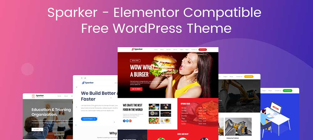 Sparker – Free Elementor WordPress Theme for 2019