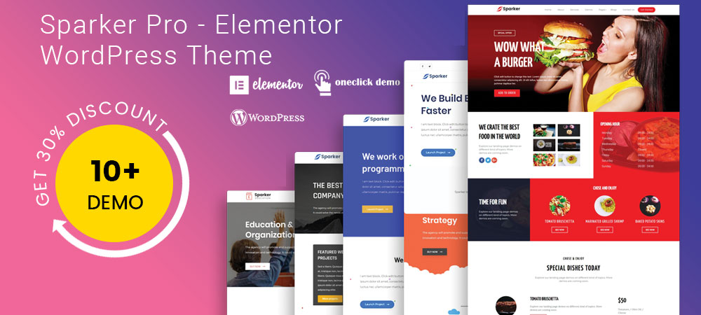 Sparker Elementor WordPress Theme