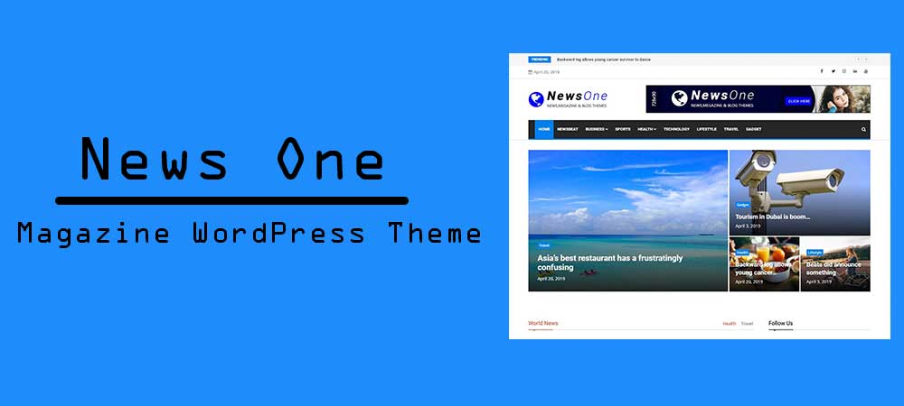 News One – Free Magazine WordPress Theme