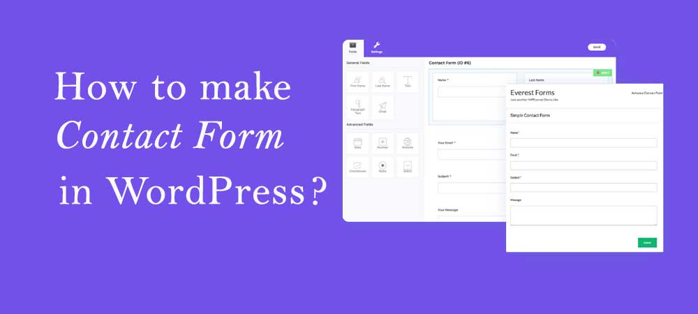 how to make a contact form in WordPress with everest forms