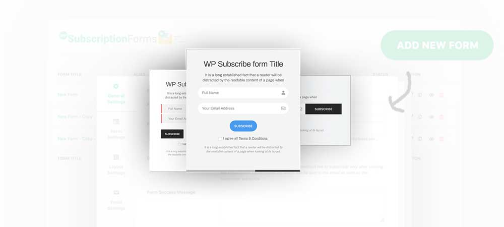 add subscription form in WordPress