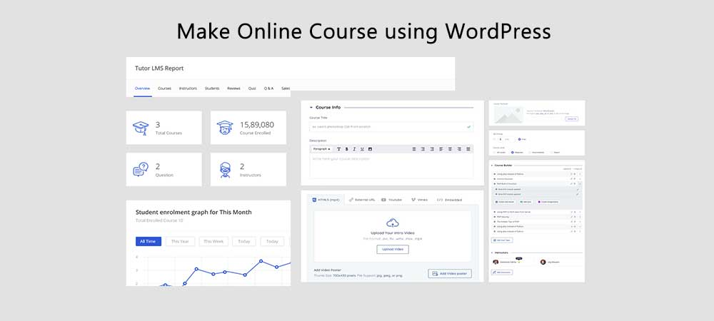 How to make an online course website using WordPress for free?