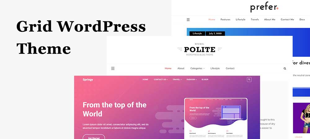 Collection of Best Masonry and Grid WordPress Themes for 2021