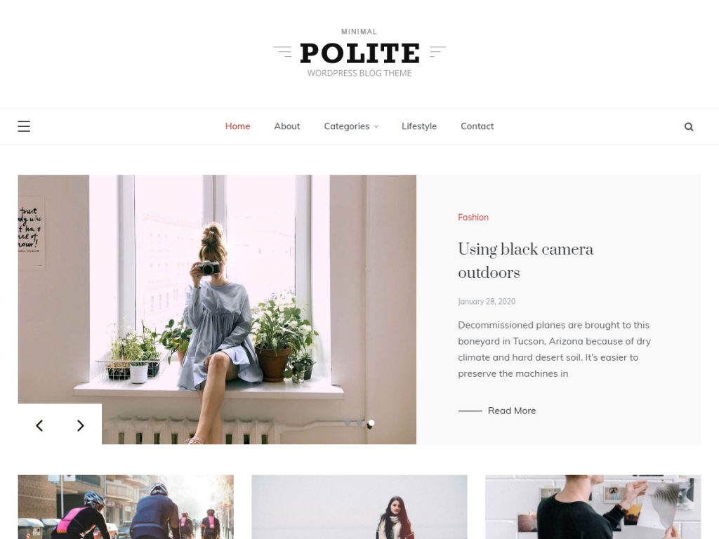 polite free grid WordPress theme